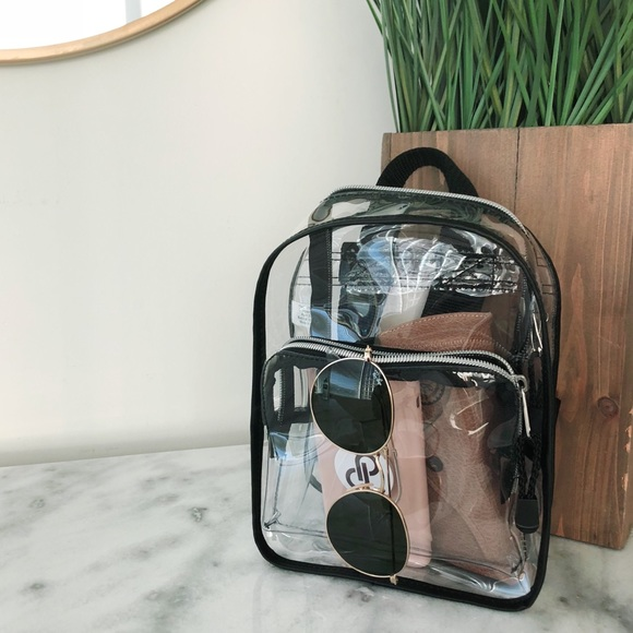 Handbags - Mini Clear Backpack
